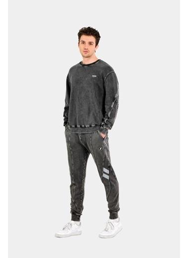 Huxel MUS005214-0HB Yıkamalı Sweatshirt Renkli